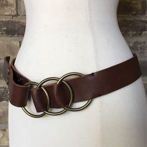 Banana Republic Belt S Leather Wide Brown